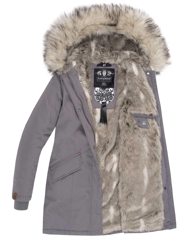 Navahoo-Premium-Damen-Winter-Jacke-Parka-Mantel-Winterjacke-warm-Kunstfell-B669 Indexbild 28