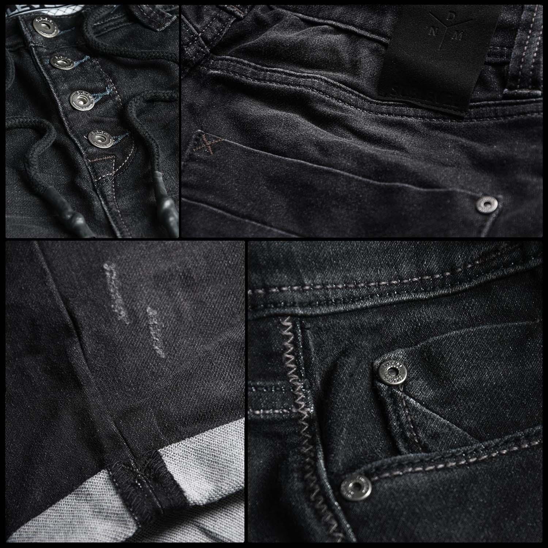 Sublevel-Herren-Sweat-Jeans-Shorts-kurze-Hose-Bermuda-Sommer-Sweathose-Slim-NEU Indexbild 4