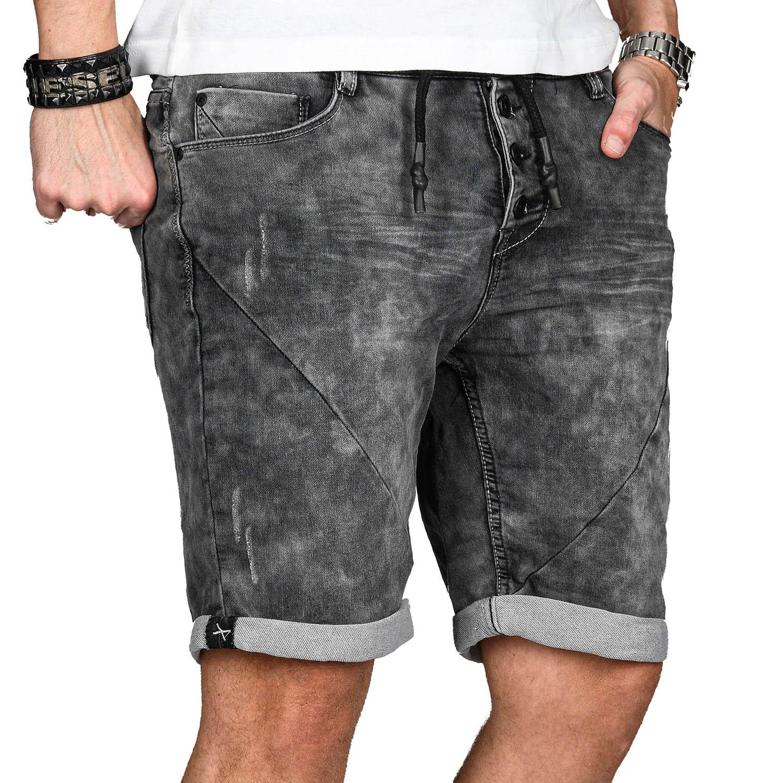 Sublevel-Herren-Sweat-Jeans-Shorts-kurze-Hose-Bermuda-Sommer-Sweathose-Slim-NEU Indexbild 58