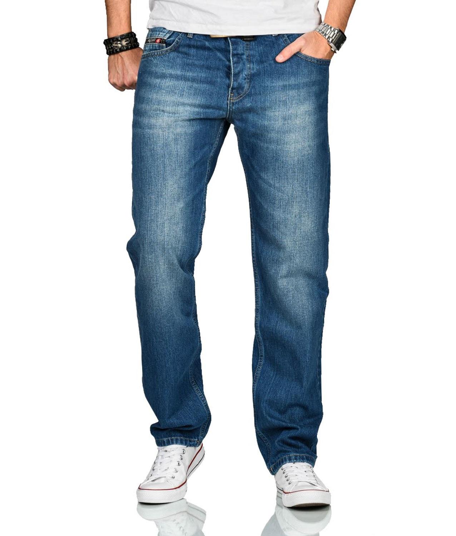 A-Salvarini-Beppo-Designer-Herren-Jeans-Hose-Basic-Jeanshose-Comfort-Fit Indexbild 3