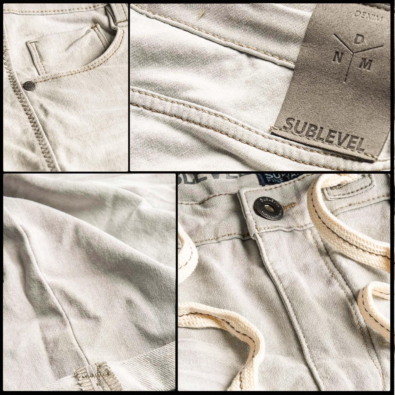 Sublevel-Herren-Sweat-Jeans-Shorts-kurze-Hose-Bermuda-Sommer-Sweathose-Slim-NEU Indexbild 22