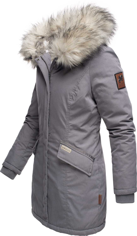 Navahoo-Premium-Damen-Winter-Jacke-Parka-Mantel-Winterjacke-warm-Kunstfell-B669 Indexbild 25