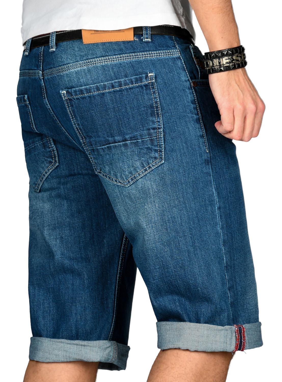 A-Salvarini-Designer-Herren-Jeans-Short-kurze-Sommer-Hose-Jeansshorts-Bermuda Indexbild 11