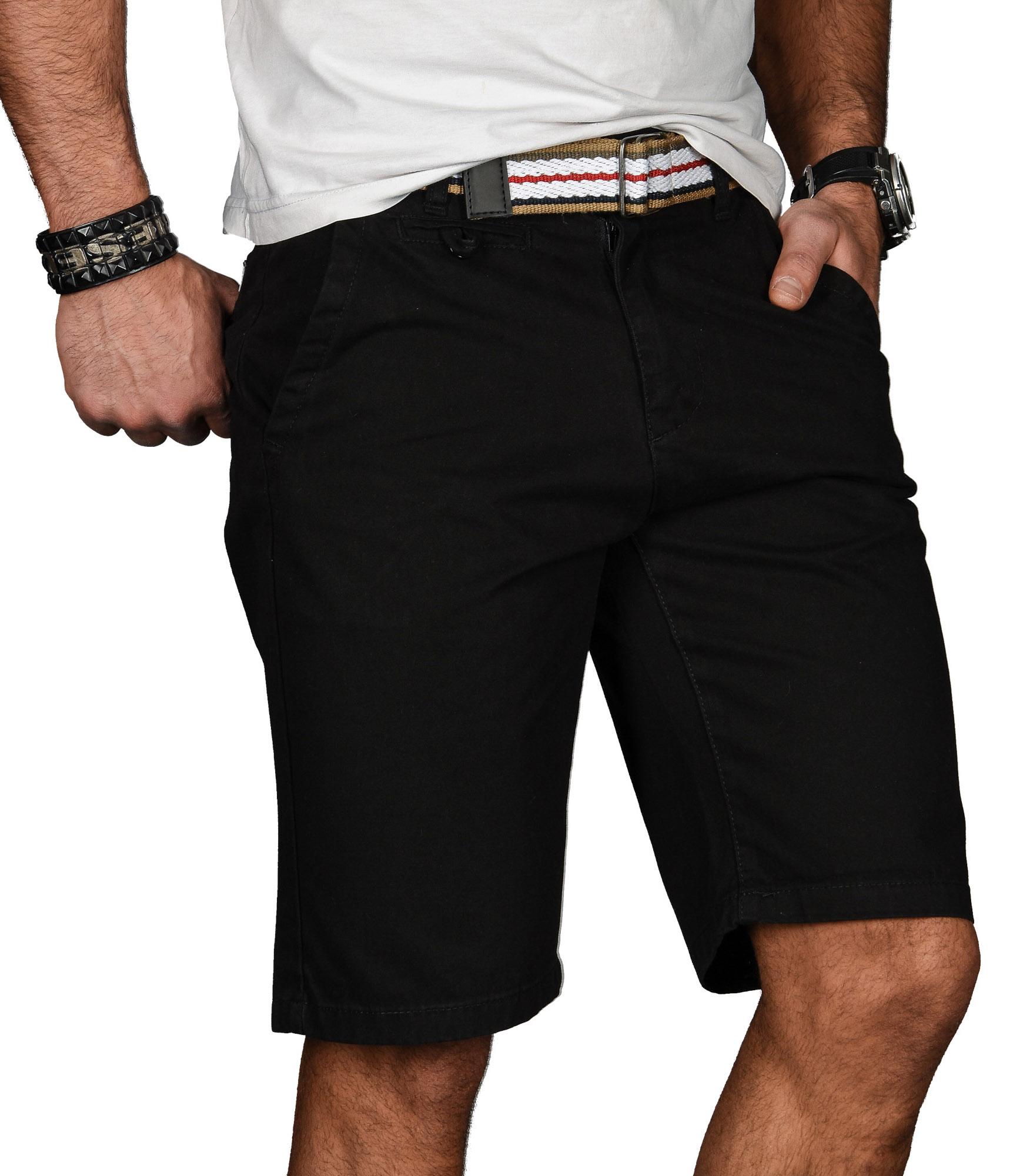 A-Salvarini-Herren-Shorts-kurze-Sommer-Hose-mit-Guertel-Short-Bermuda-NEU-AS096 Indexbild 3