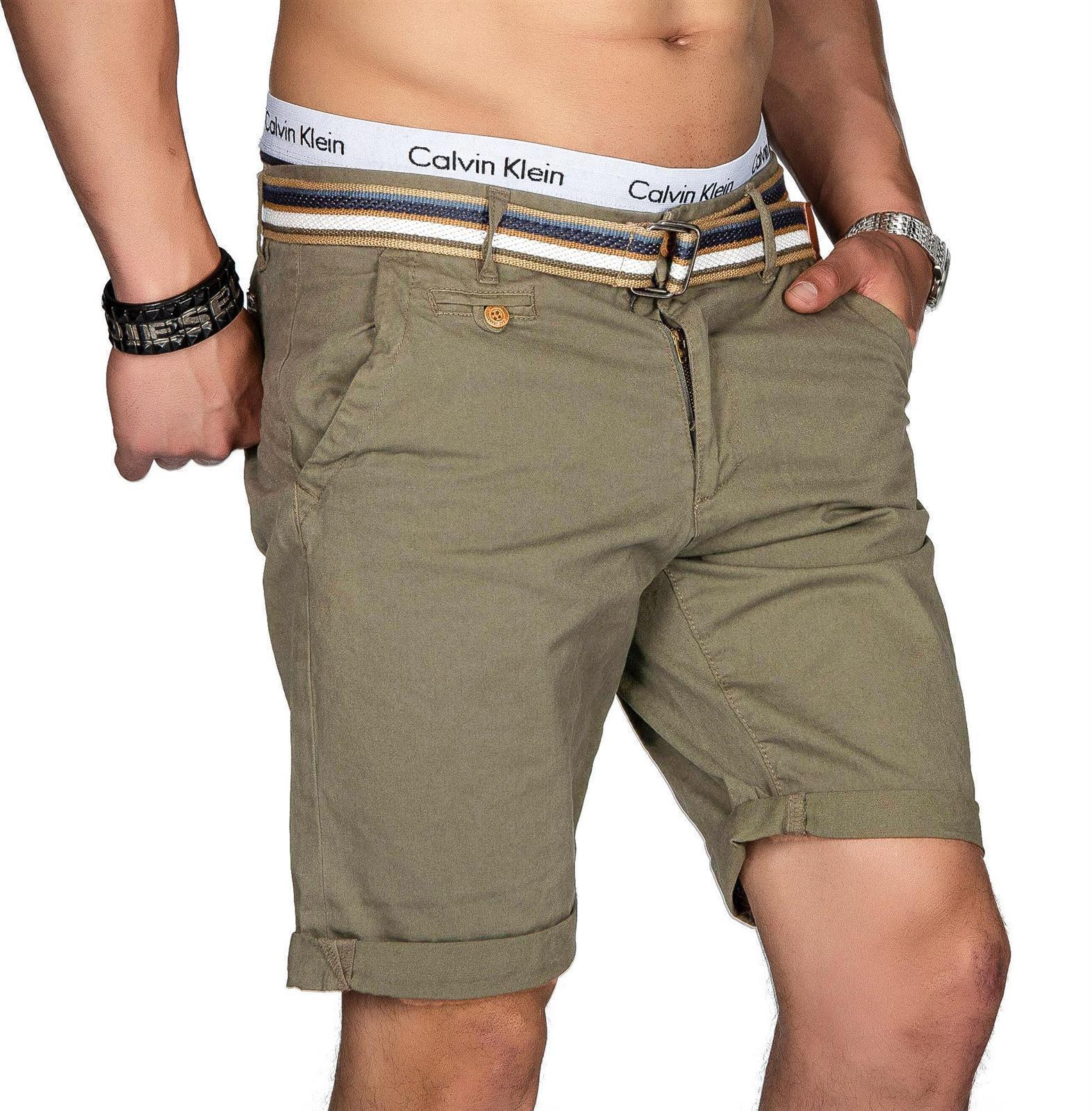 Indicode-Herren-Sommer-Bermuda-Chino-Shorts-kurze-Hose-Sommerhose-Short-NEU-B499 Indexbild 35