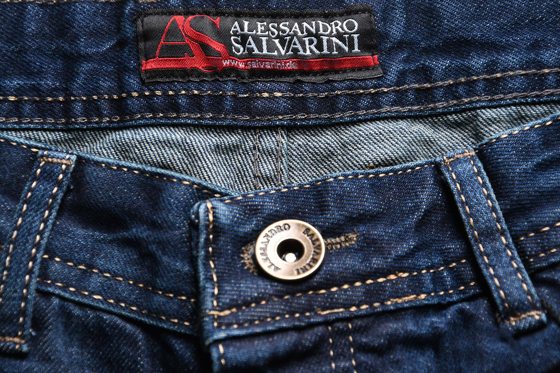 A-Salvarini-Beppo-Designer-Herren-Jeans-Hose-Basic-Jeanshose-Comfort-Fit Indexbild 16