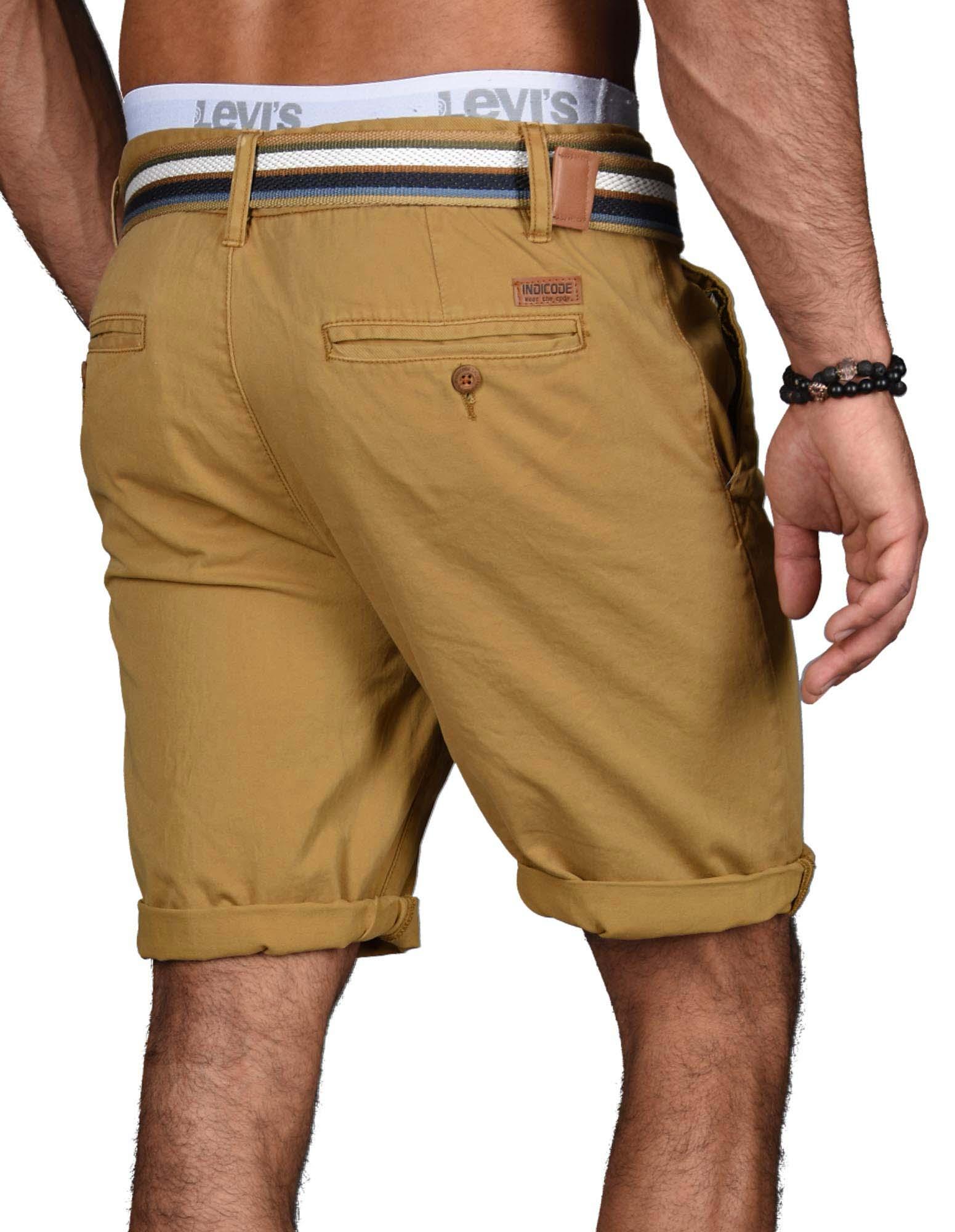 Indicode-Herren-Sommer-Bermuda-Chino-Shorts-kurze-Hose-Sommerhose-Short-NEU-B499 Indexbild 8