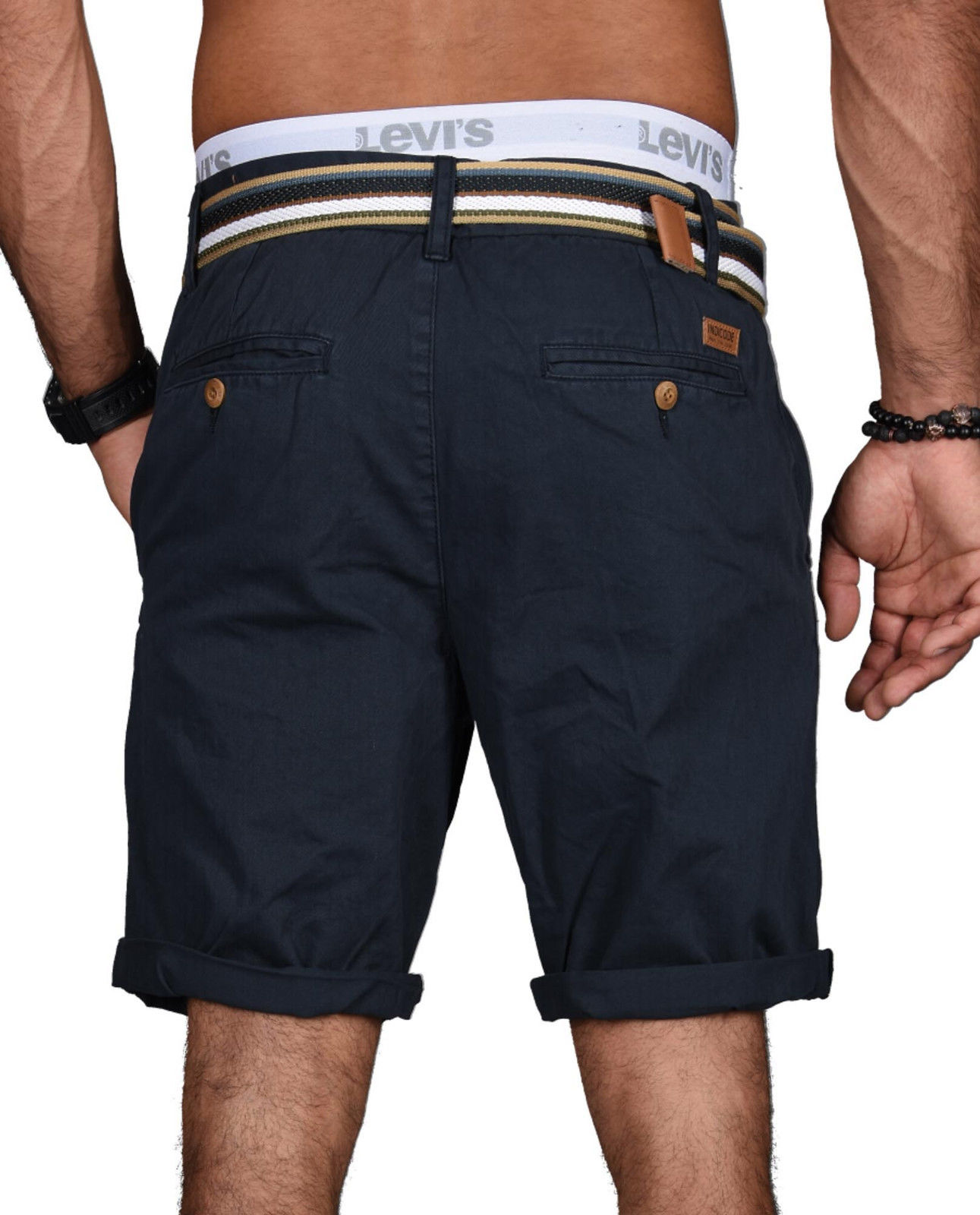 Indicode-Herren-Sommer-Bermuda-Chino-Shorts-kurze-Hose-Sommerhose-Short-NEU-B499 Indexbild 17