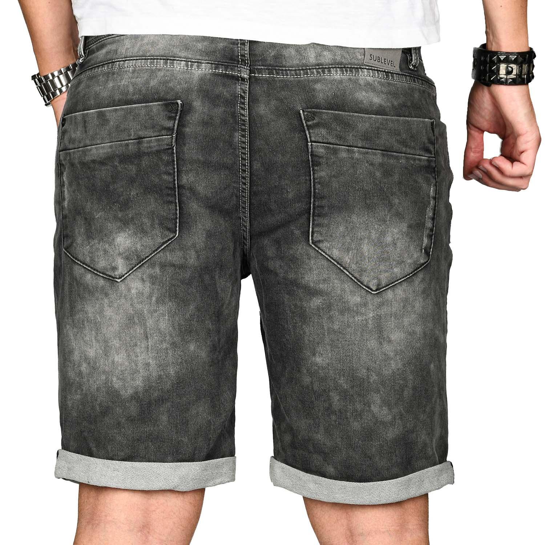 Sublevel-Herren-Shorts-Sweat-Jeans-kurze-Hose-Bermuda-Sommer-Short-Sweathose Indexbild 30