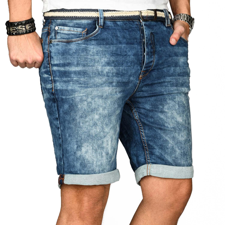 Sublevel-Herren-Shorts-Sweat-Jeans-kurze-Hose-Bermuda-Sommer-Short-Sweathose Indexbild 3