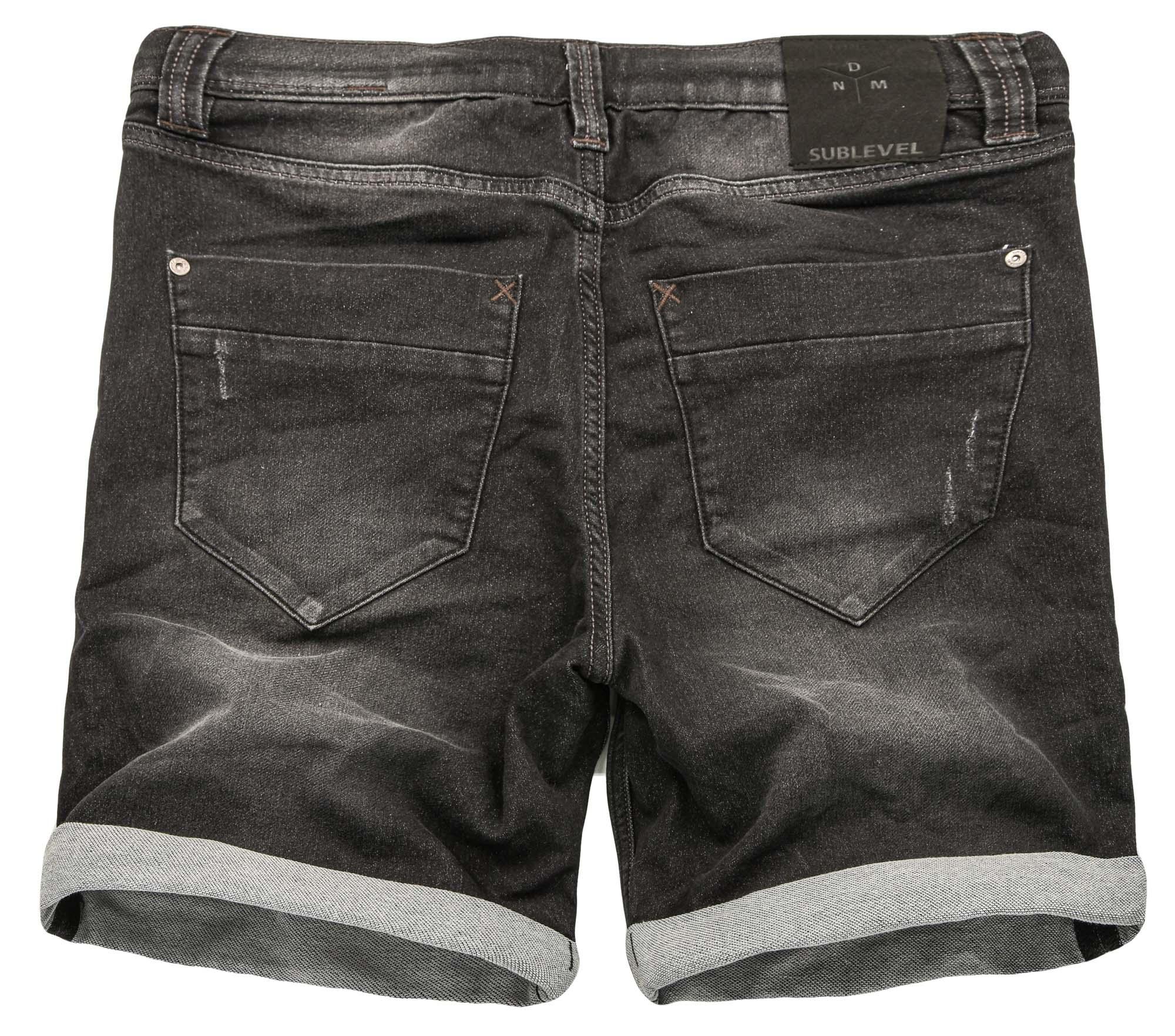 Sublevel-Herren-Sweat-Jeans-Shorts-kurze-Hose-Bermuda-Sommer-Sweathose-Slim-NEU Indexbild 3