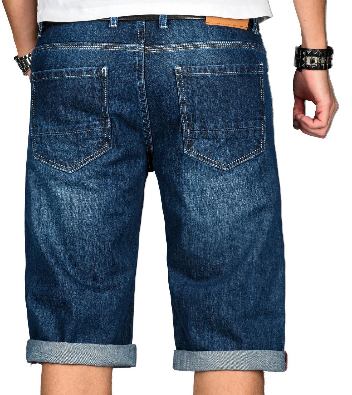 A-Salvarini-Designer-Herren-Jeans-Short-kurze-Sommer-Hose-Jeansshorts-Bermuda Indexbild 20