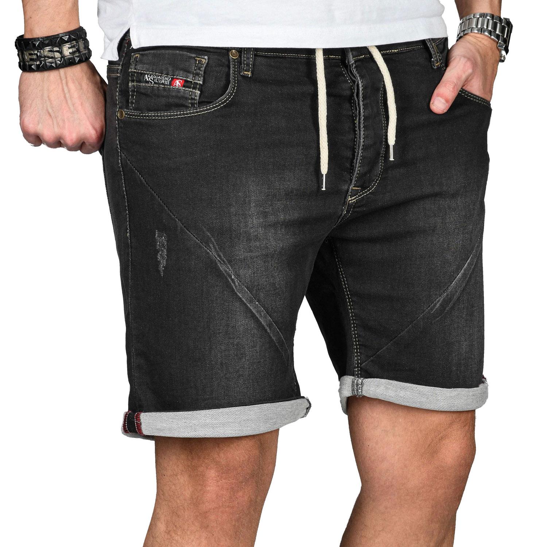 A-Salvarini-Herren-Jeans-Short-kurze-Hose-Sommer-Shorts-Bermuda-Comfort-fit-NEU Indexbild 3