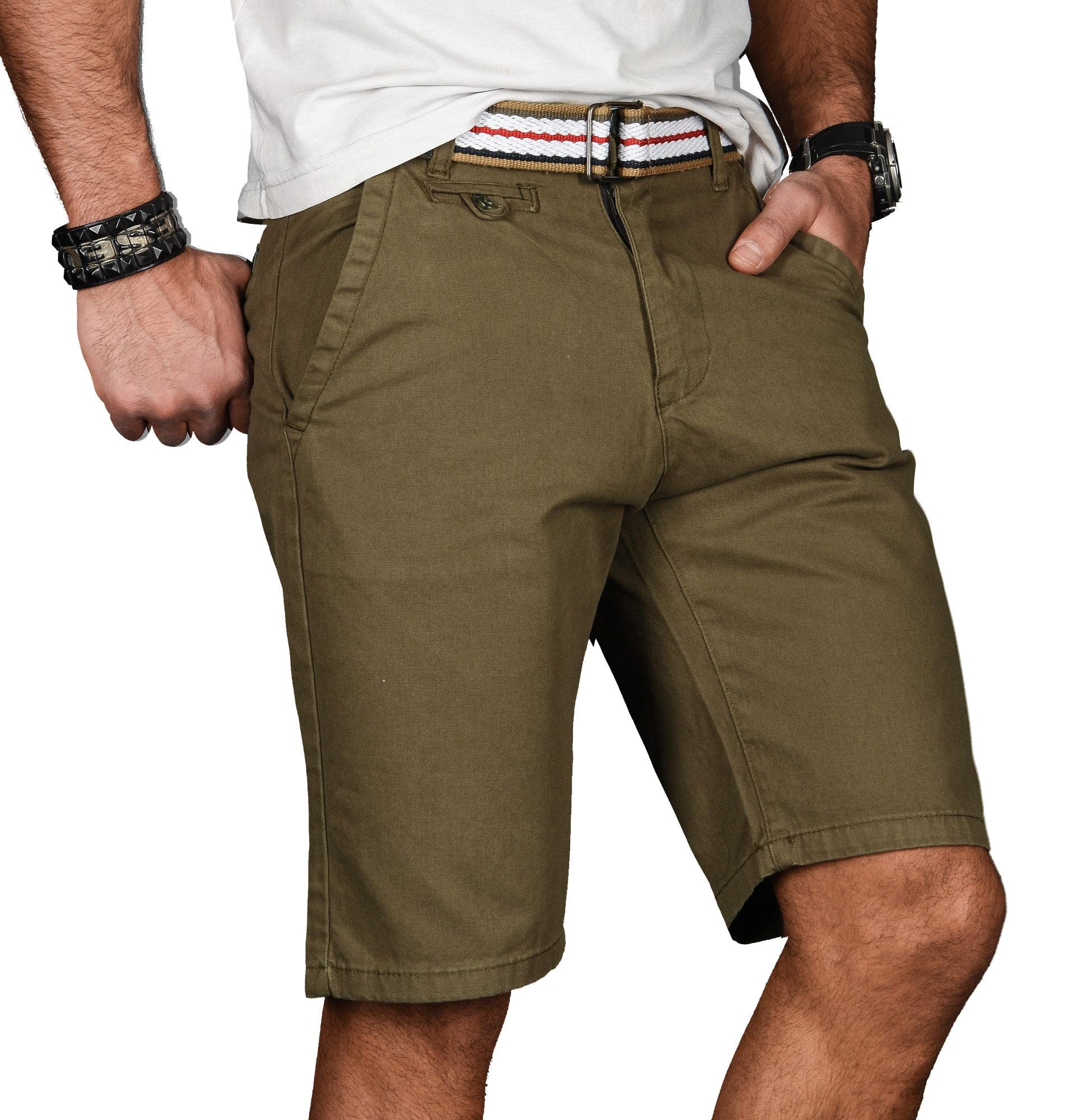 A-Salvarini-Herren-Shorts-kurze-Sommer-Hose-mit-Guertel-Short-Bermuda-NEU-AS096 Indexbild 30