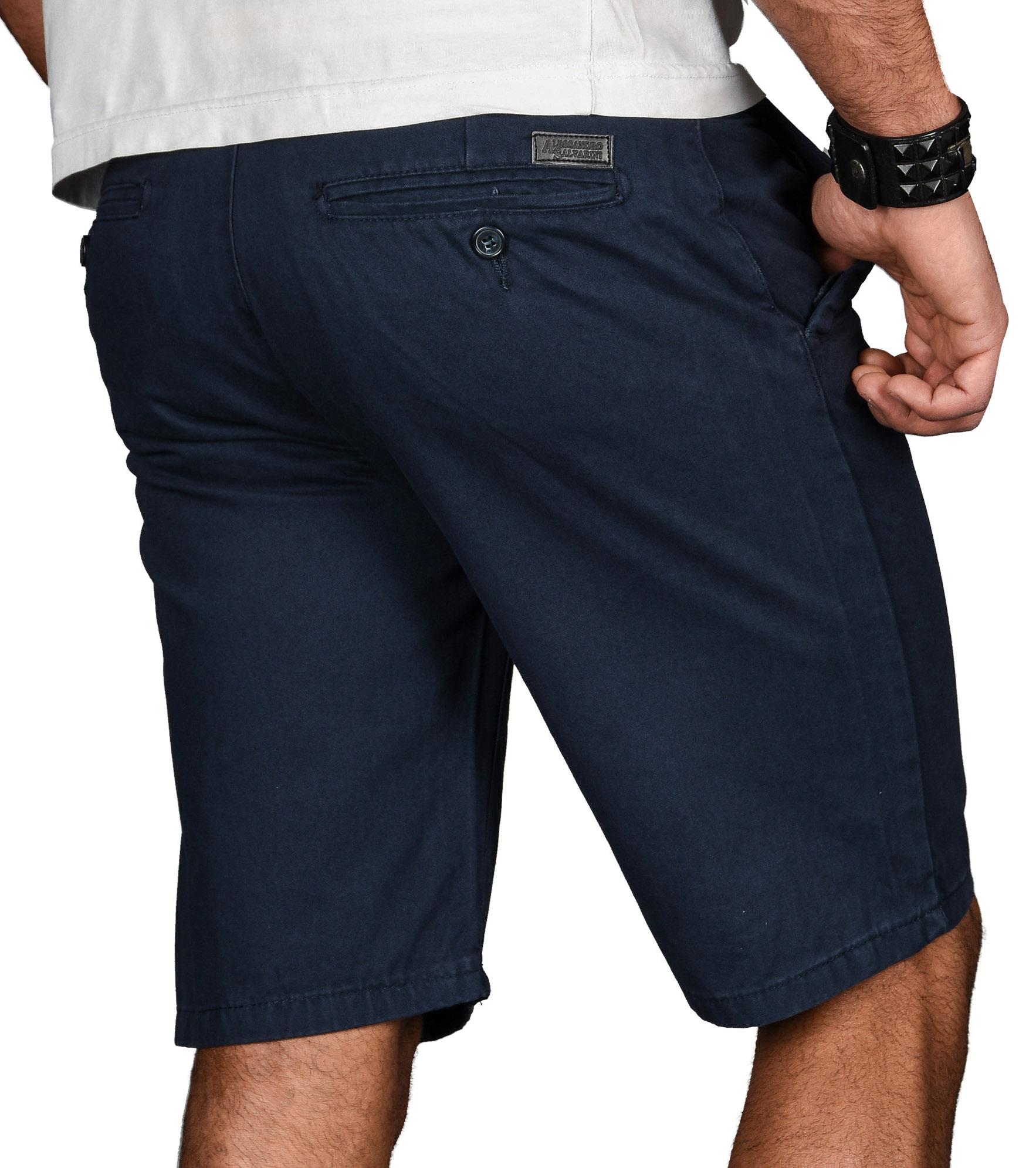 A-Salvarini-Herren-Shorts-kurze-Sommer-Hose-mit-Guertel-Short-Bermuda-NEU-AS096 Indexbild 10