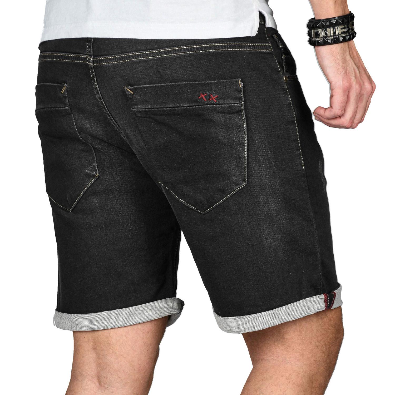 A-Salvarini-Herren-Jeans-Short-kurze-Hose-Sommer-Shorts-Bermuda-Comfort-fit-NEU Indexbild 4