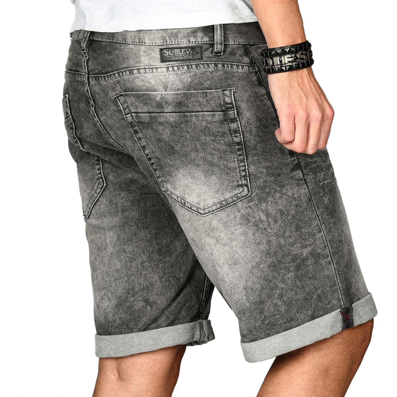 Sublevel-Herren-Shorts-Sweat-Jeans-kurze-Hose-Bermuda-Sommer-Short-Sweathose Indexbild 24