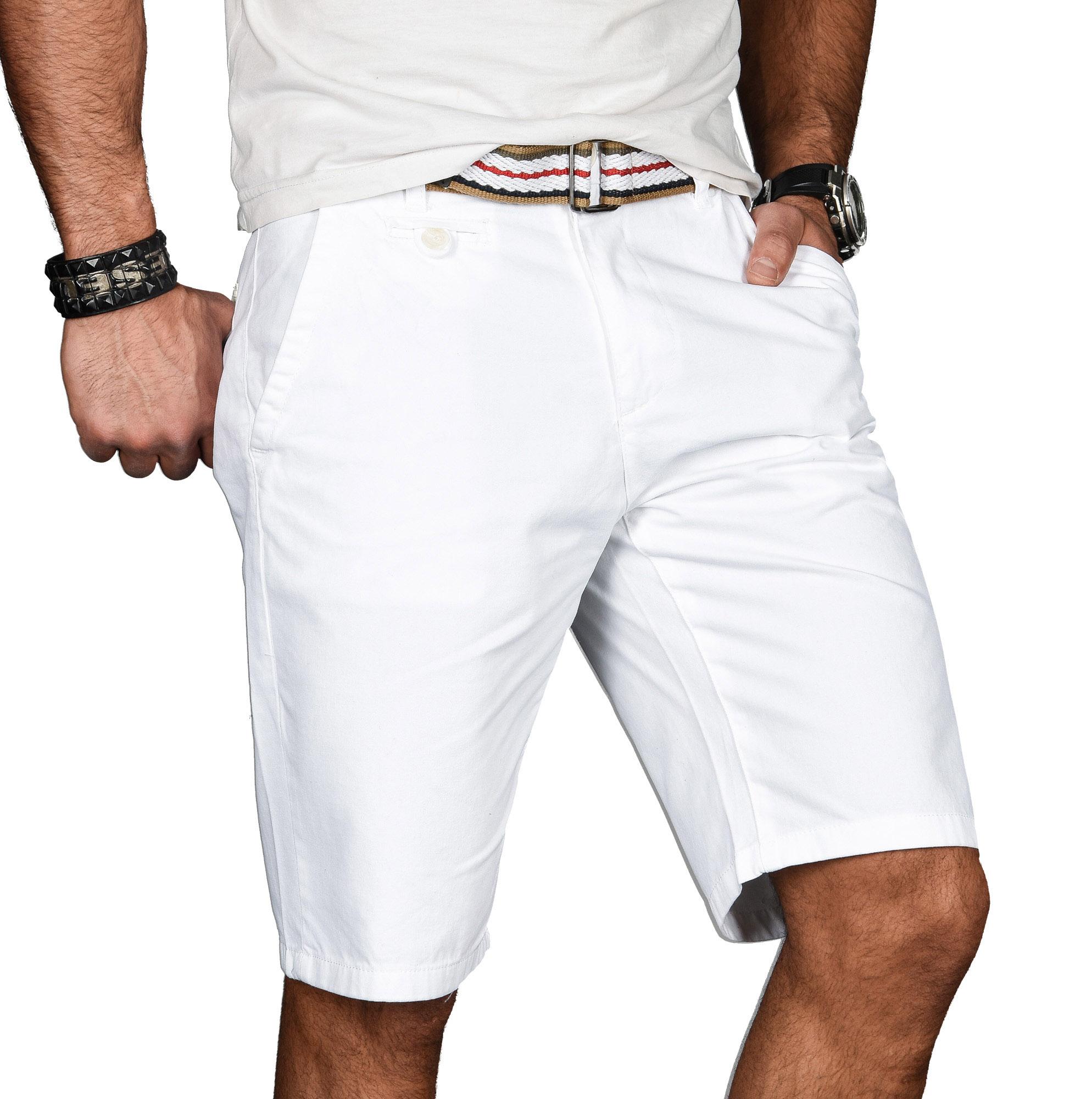 A-Salvarini-Herren-Shorts-kurze-Sommer-Hose-mit-Guertel-Short-Bermuda-NEU-AS096 Indexbild 22