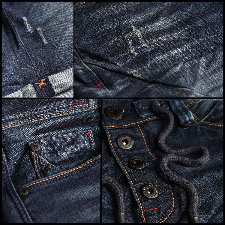 Sublevel-Herren-Sweat-Jeans-Shorts-kurze-Hose-Bermuda-Sommer-Sweathose-Slim-NEU Indexbild 25