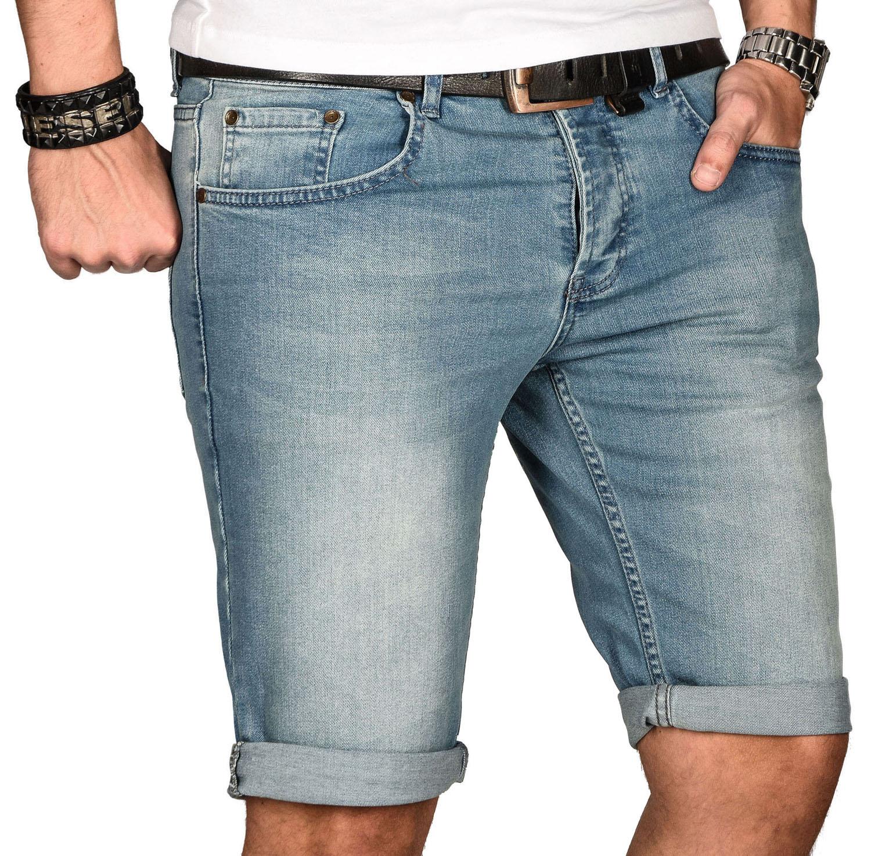 A-Salvarini-Herren-Designer-Jeans-Short-kurze-Hose-Slim-Sommer-Shorts-Bermuda Indexbild 25