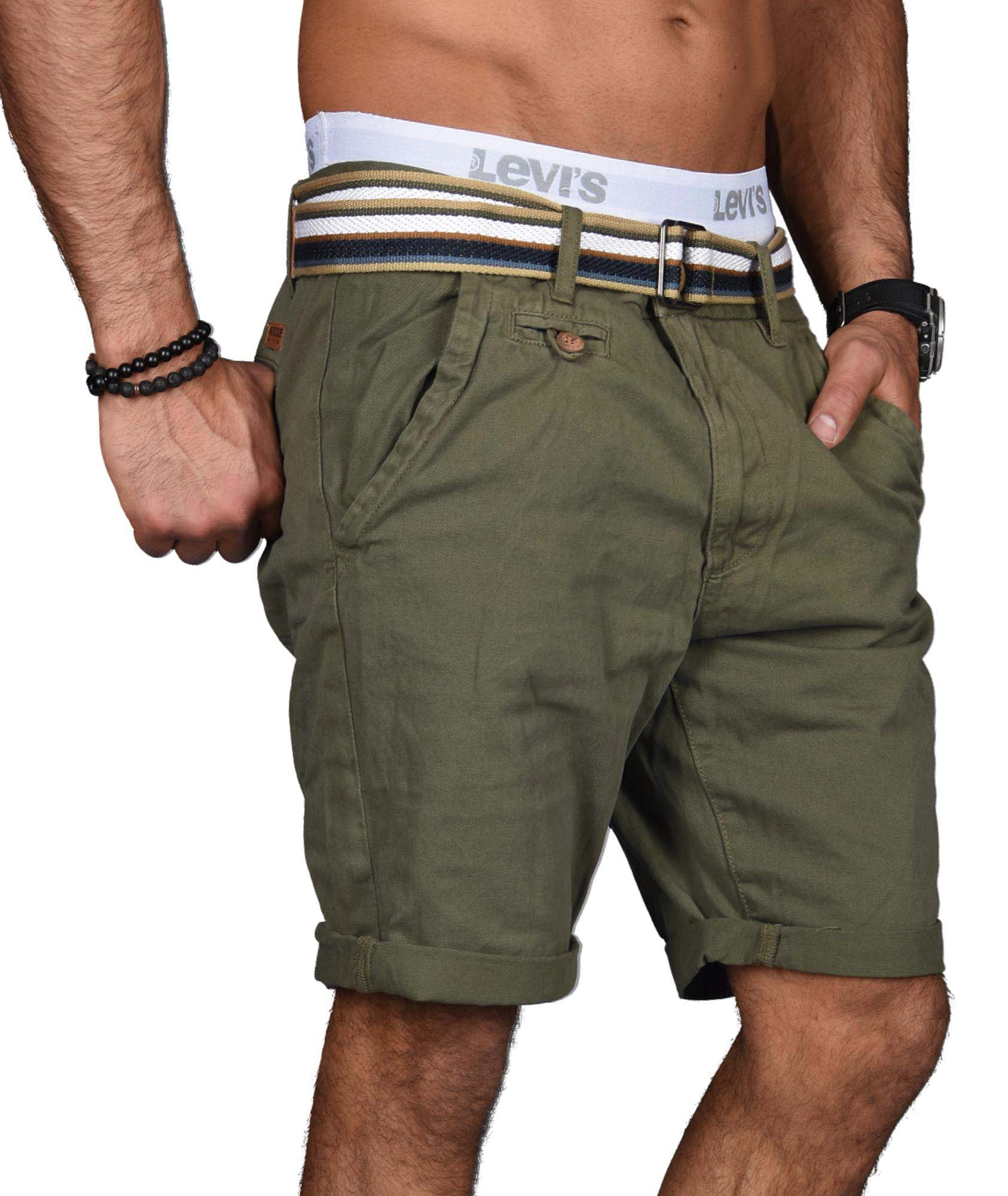 Indicode-Herren-Sommer-Bermuda-Chino-Shorts-kurze-Hose-Sommerhose-Short-NEU-B499 Indexbild 19