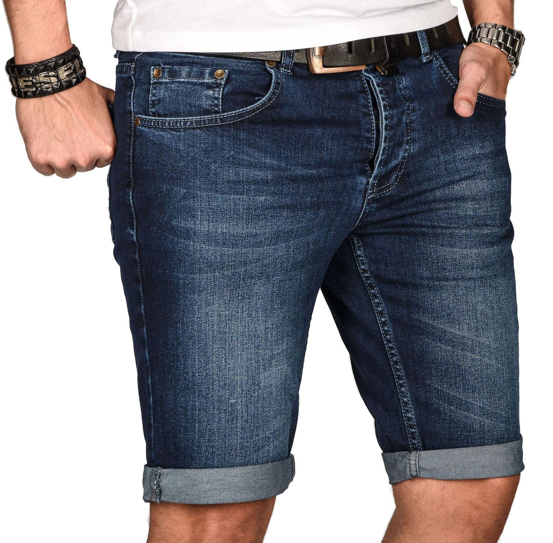 A-Salvarini-Herren-Designer-Jeans-Short-kurze-Hose-Slim-Sommer-Shorts-Bermuda Indexbild 37