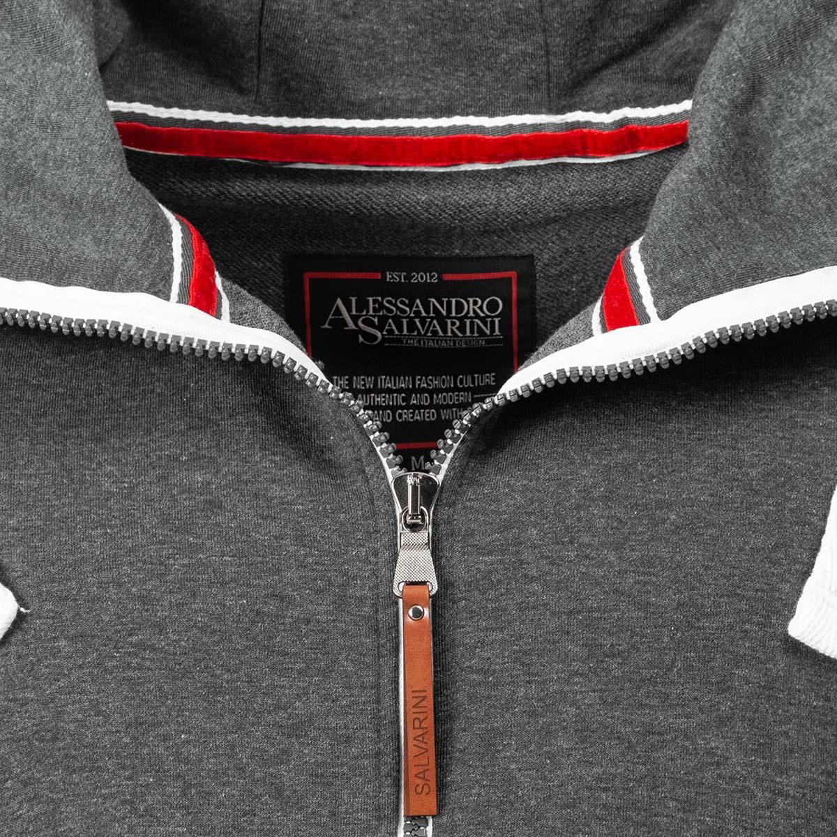 A-Salvarini-Herren-Sweatjacke-Kapuzenpullover-Jacke-Kapuze-Hoodie-Sweater-AS192 Indexbild 20
