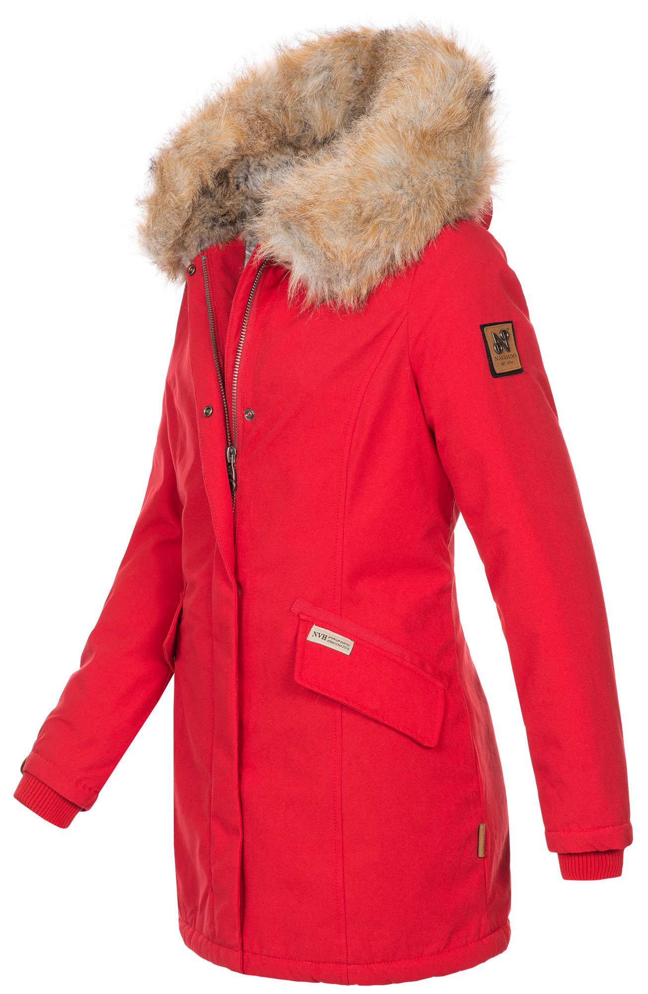 Navahoo-Premium-Damen-Winter-Jacke-Parka-Mantel-Winterjacke-warm-Kunstfell-B669 Indexbild 14