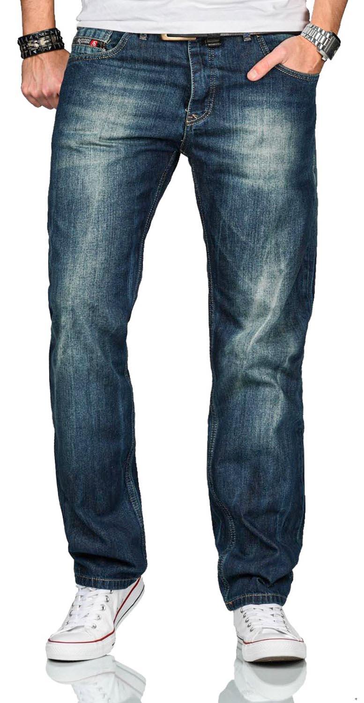 A-Salvarini-Beppo-Designer-Herren-Jeans-Hose-Basic-Jeanshose-Comfort-Fit Indexbild 11