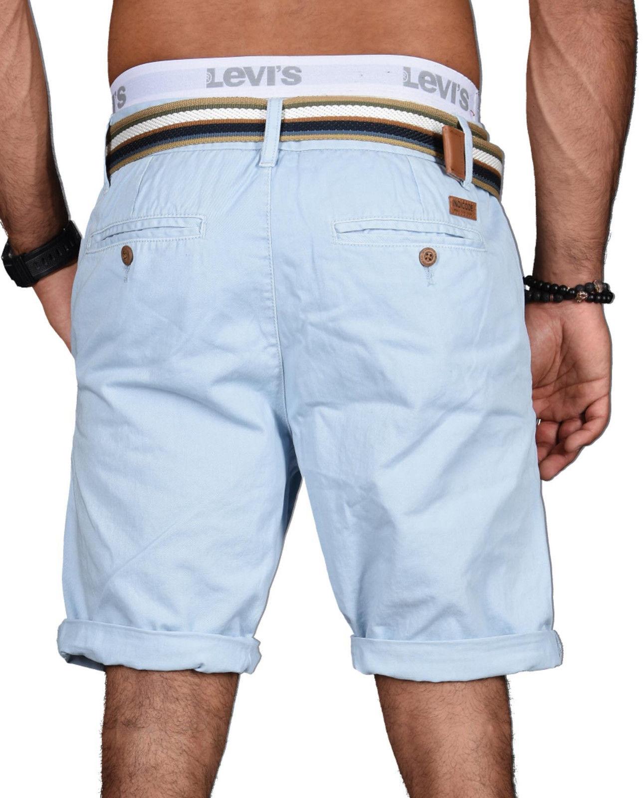 Indicode-Herren-Sommer-Bermuda-Chino-Shorts-kurze-Hose-Sommerhose-Short-NEU-B499 Indexbild 13