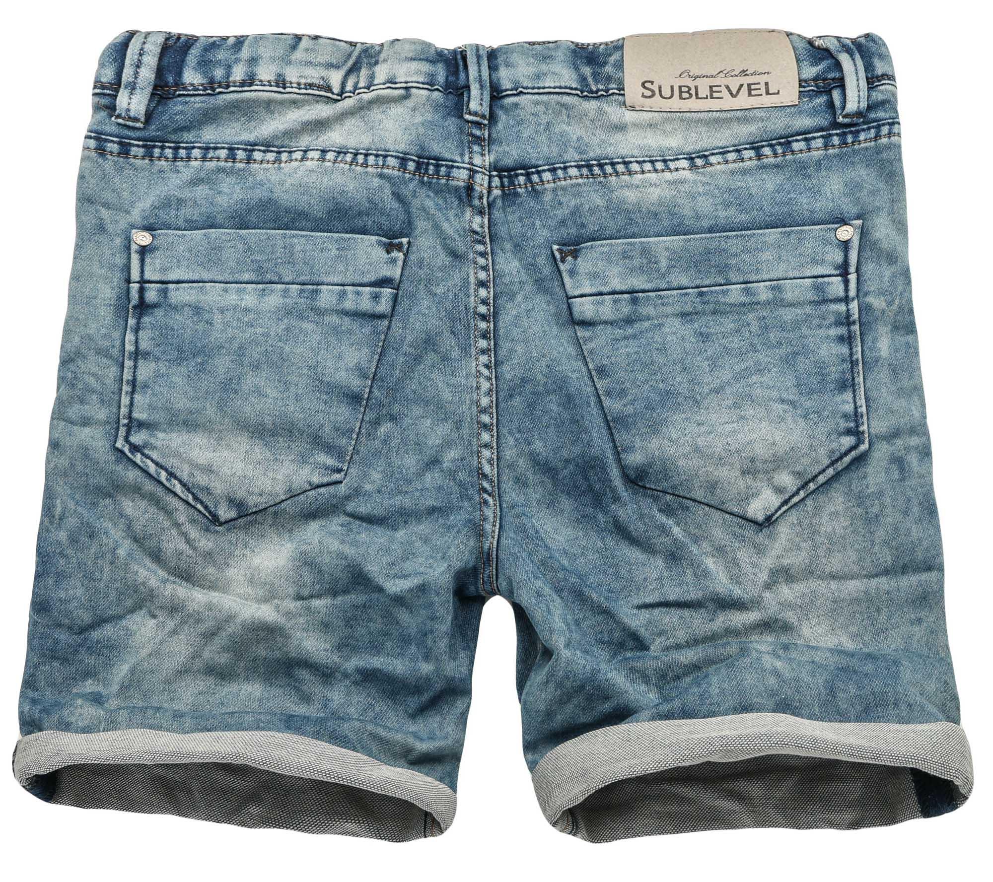 Sublevel-Herren-Sweat-Jeans-Shorts-kurze-Hose-Bermuda-Sommer-Sweathose-Slim-NEU Indexbild 31