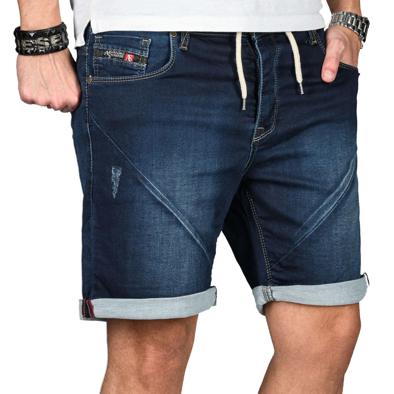 A-Salvarini-Herren-Jeans-Short-kurze-Hose-Sommer-Shorts-Bermuda-Comfort-fit-NEU Indexbild 17