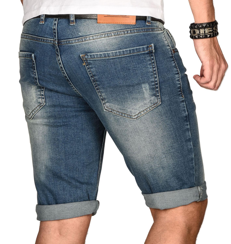 A-Salvarini-Herren-Designer-Jeans-Short-kurze-Hose-Slim-Sommer-Shorts-Bermuda Indexbild 9