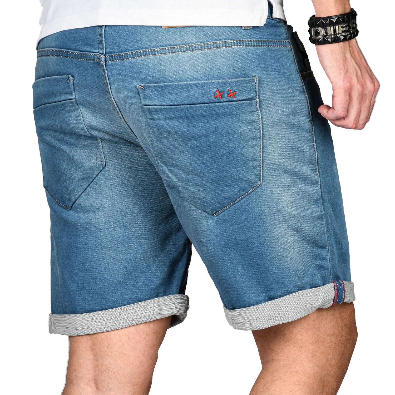 A-Salvarini-Herren-Jeans-Short-kurze-Hose-Sommer-Shorts-Bermuda-Comfort-fit-NEU Indexbild 11
