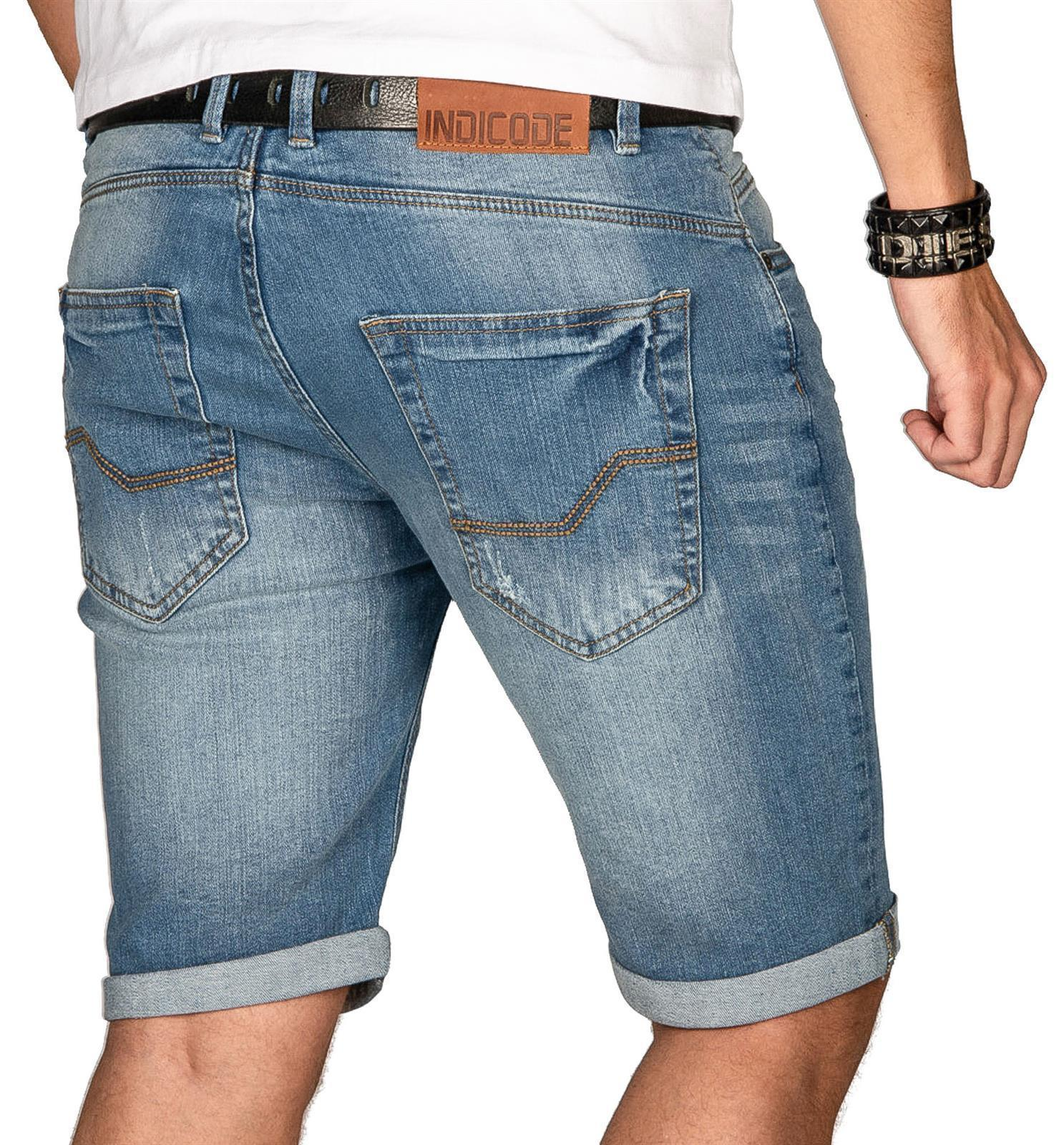 Indicode-Herren-Sommer-Bermuda-Jeans-Shorts-kurze-Hose-Sommerhose-Short-Neu-B556 Indexbild 12