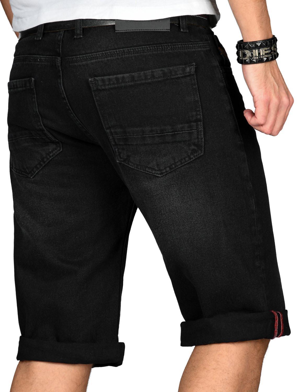 A-Salvarini-Designer-Herren-Jeans-Short-kurze-Sommer-Hose-Jeansshorts-Bermuda Indexbild 27