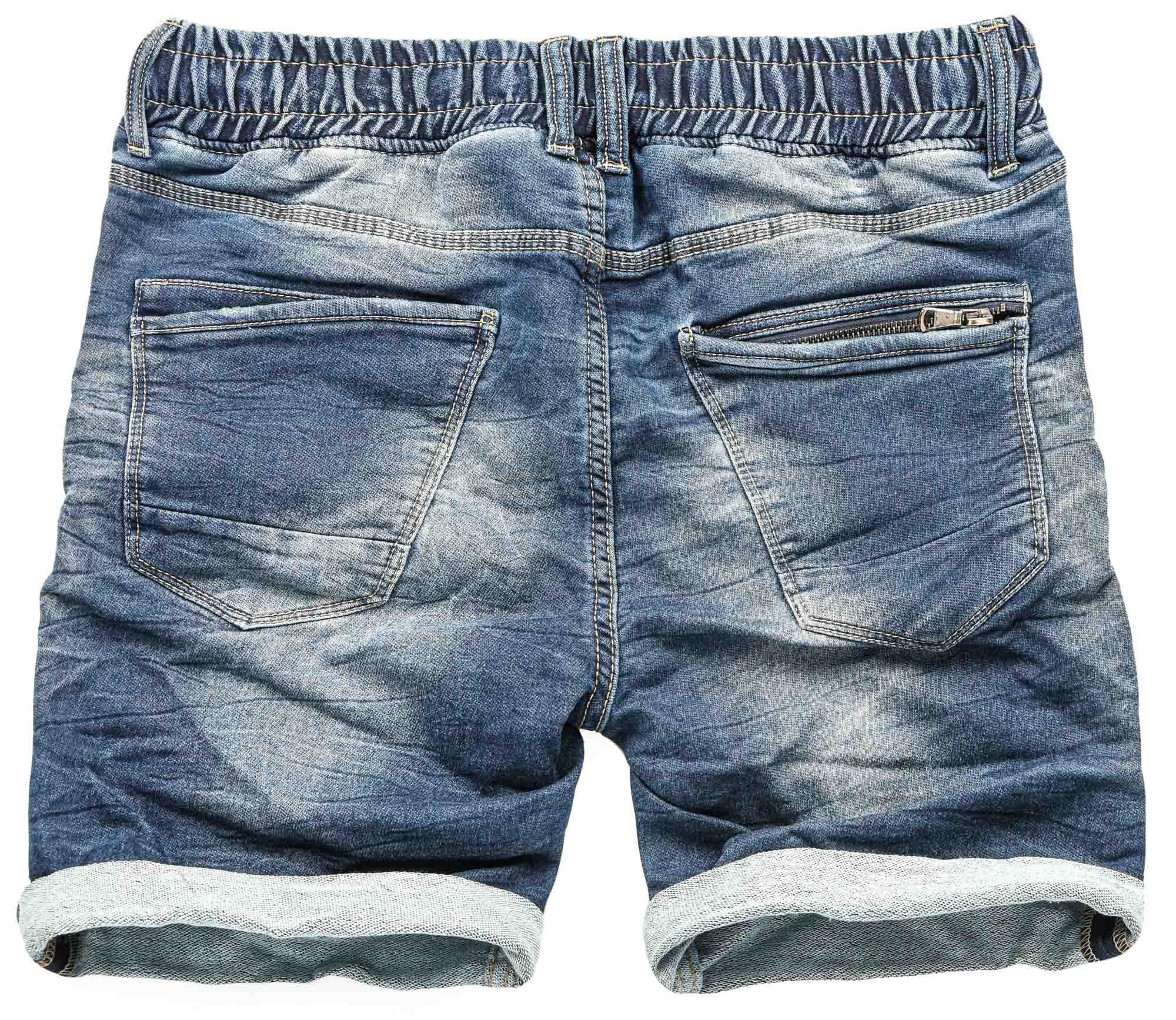 Sublevel-Herren-Sweat-Jeans-Shorts-kurze-Hose-Bermuda-Sommer-Sweathose-Slim-NEU Indexbild 27