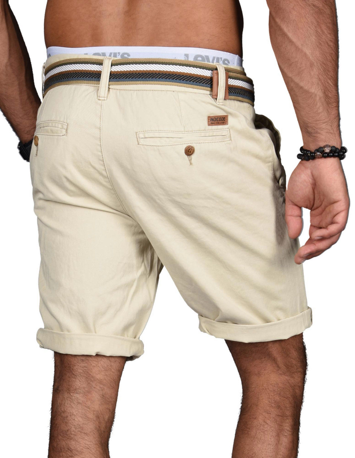 Indicode-Herren-Sommer-Bermuda-Chino-Shorts-kurze-Hose-Sommerhose-Short-NEU-B499 Indexbild 4
