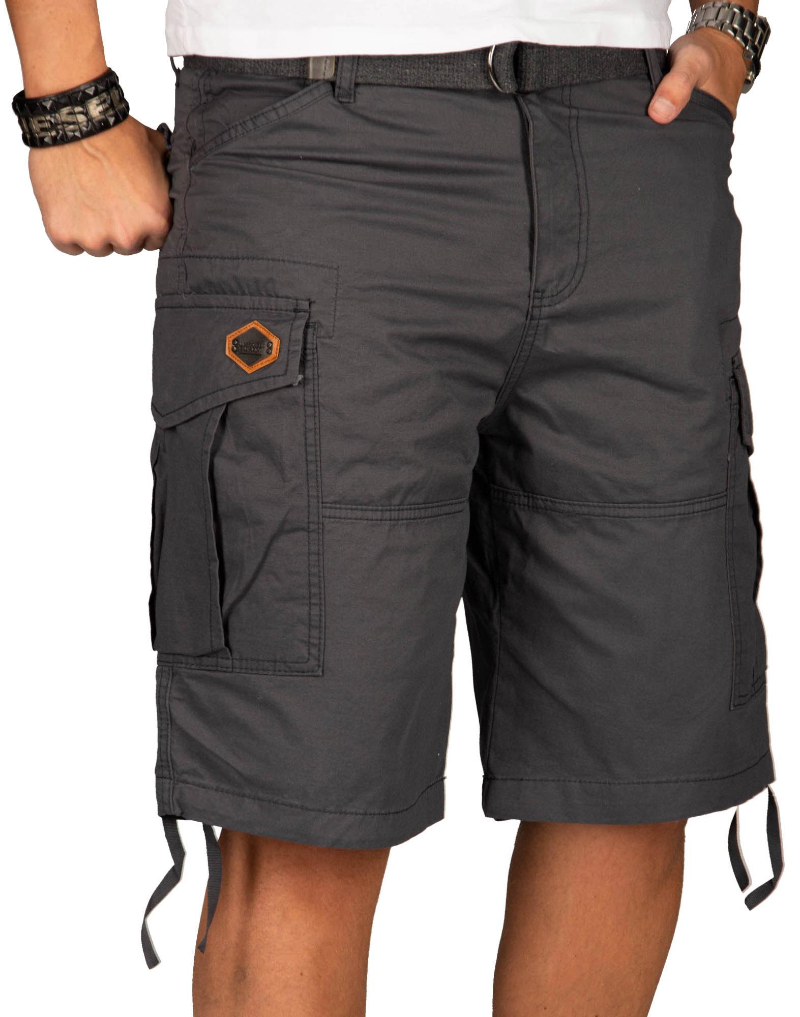 A-Salvarini-Herren-Comfort-Cargo-Shorts-Cargoshorts-kurze-Hose-Guertel-AS133-NEU Indexbild 7