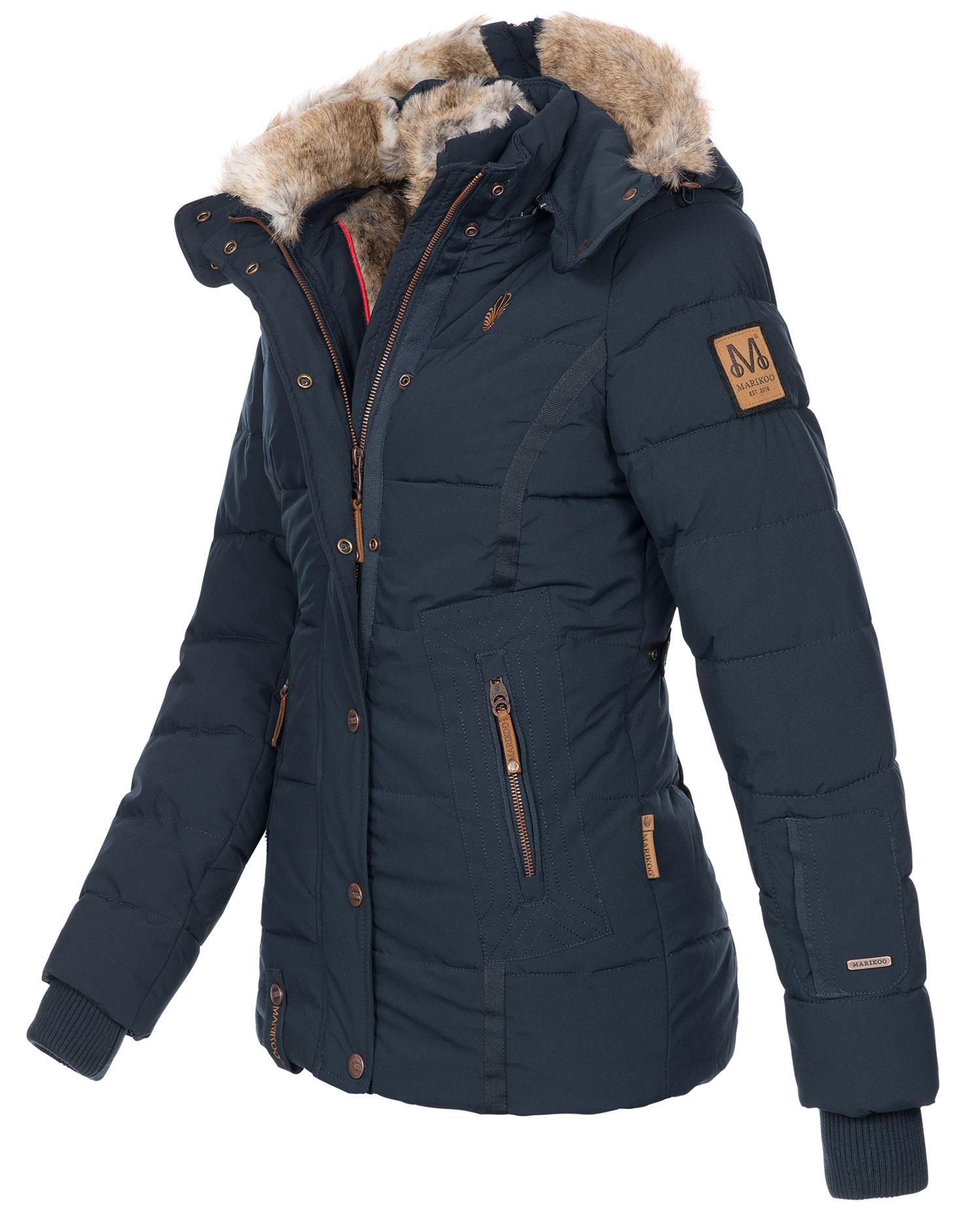 Marikoo warme Damen Winter Jacke Winterjacke Steppjacke ...