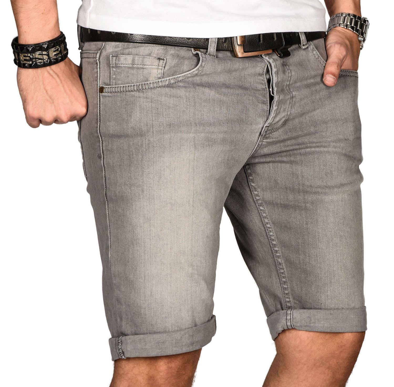 A-Salvarini-Herren-Designer-Jeans-Short-kurze-Hose-Slim-Sommer-Shorts-Bermuda Indexbild 16