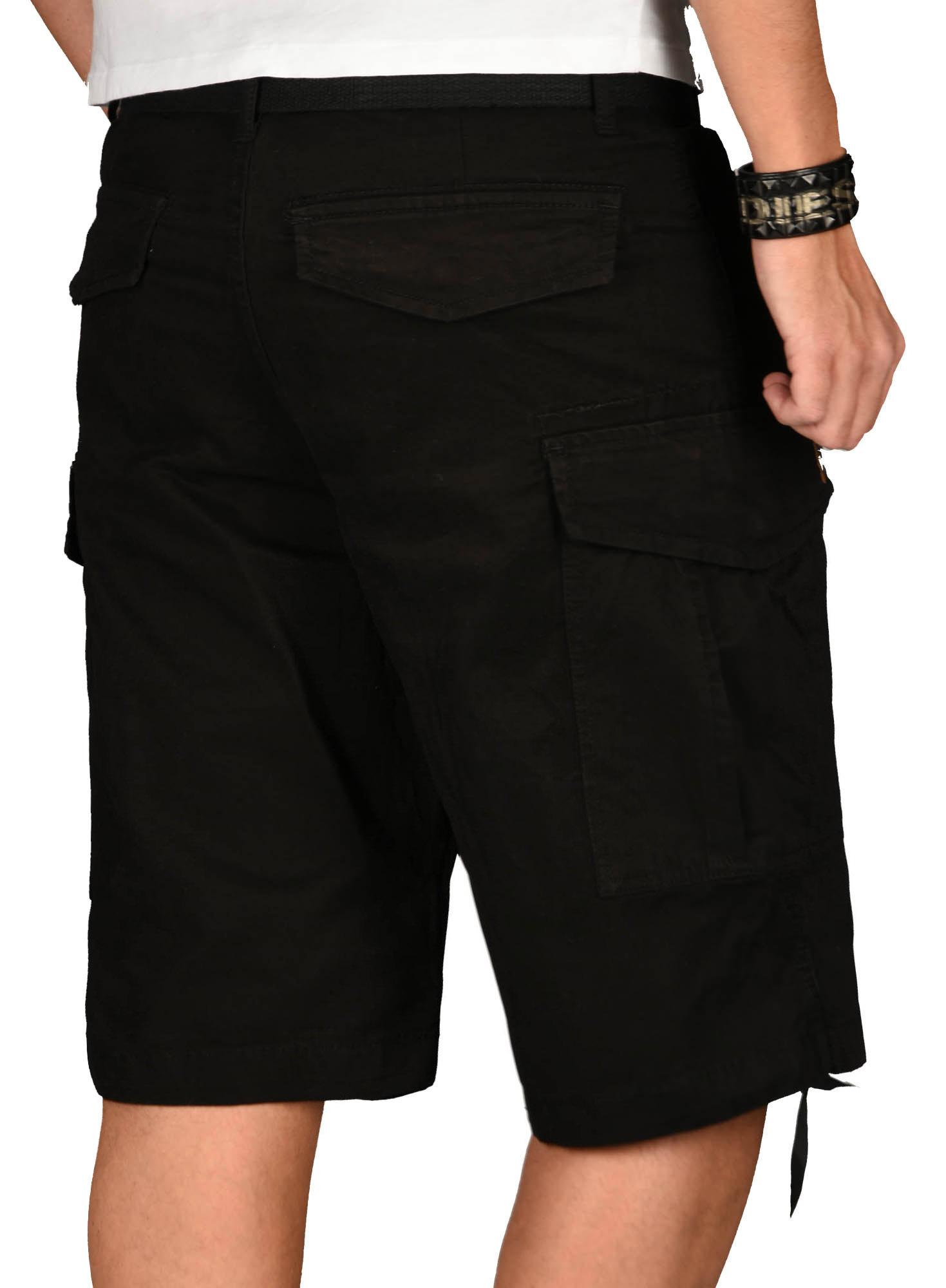 A-Salvarini-Herren-Comfort-Cargo-Shorts-Cargoshorts-kurze-Hose-Guertel-AS133-NEU Indexbild 4