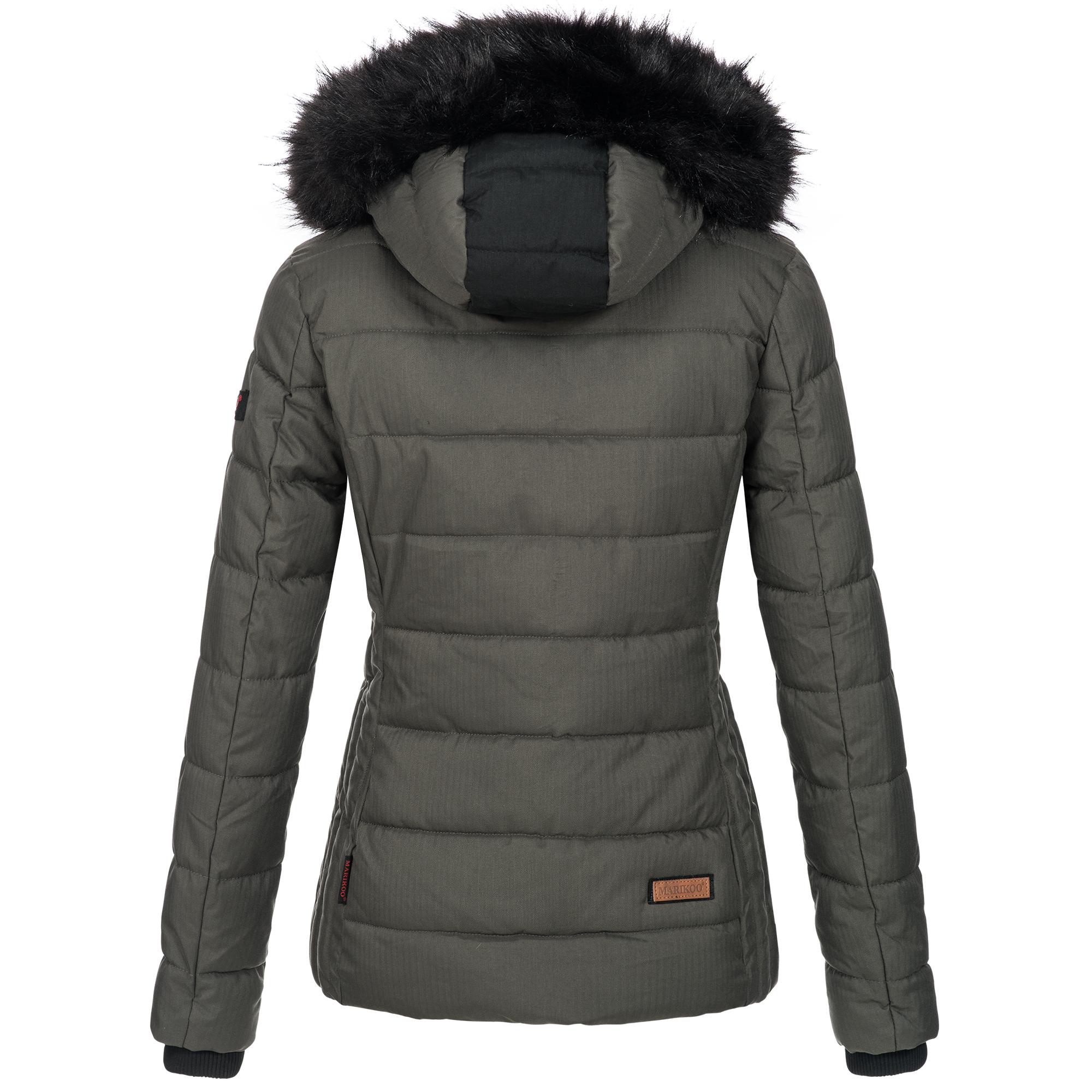 Marikoo warme Damen Winter Jacke Steppjacke Winterjacke gesteppt Parka NEU B391