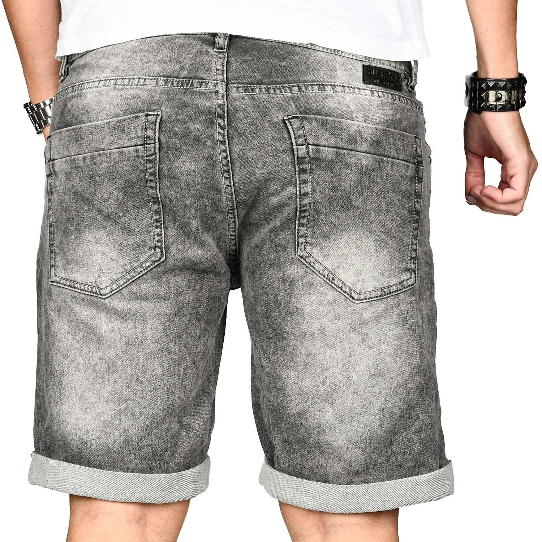 Sublevel-Herren-Shorts-Sweat-Jeans-kurze-Hose-Bermuda-Sommer-Short-Sweathose Indexbild 25
