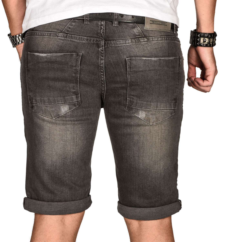A-Salvarini-Herren-Designer-Jeans-Short-kurze-Hose-Slim-Sommer-Shorts-Bermuda Indexbild 14