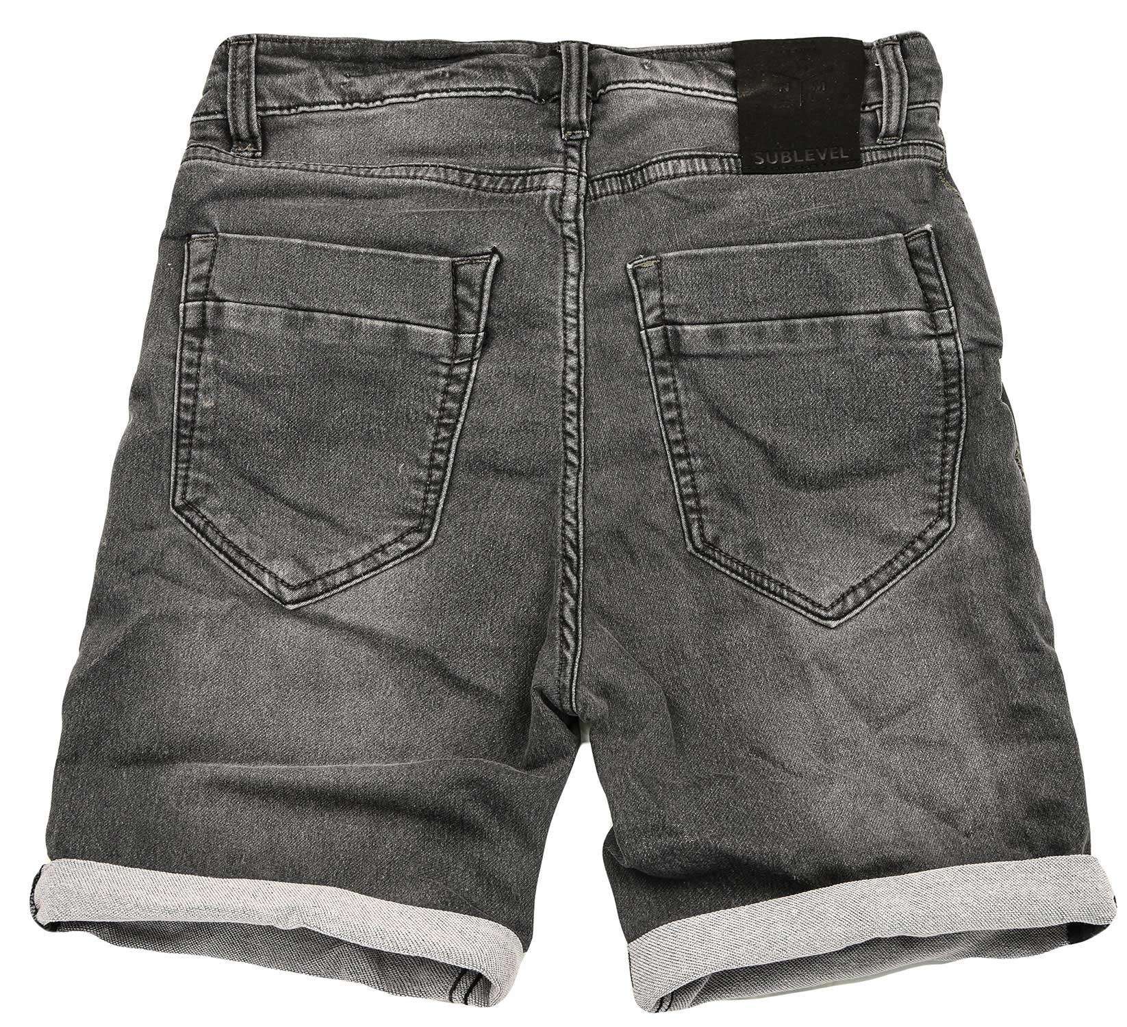 Sublevel-Herren-Sweat-Jeans-Shorts-kurze-Hose-Bermuda-Sommer-Sweathose-Slim-NEU Indexbild 42