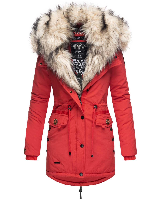 Navahoo 2in1 Damen Winter Jacke Parka Mantel Winterjacke warm Fell B365