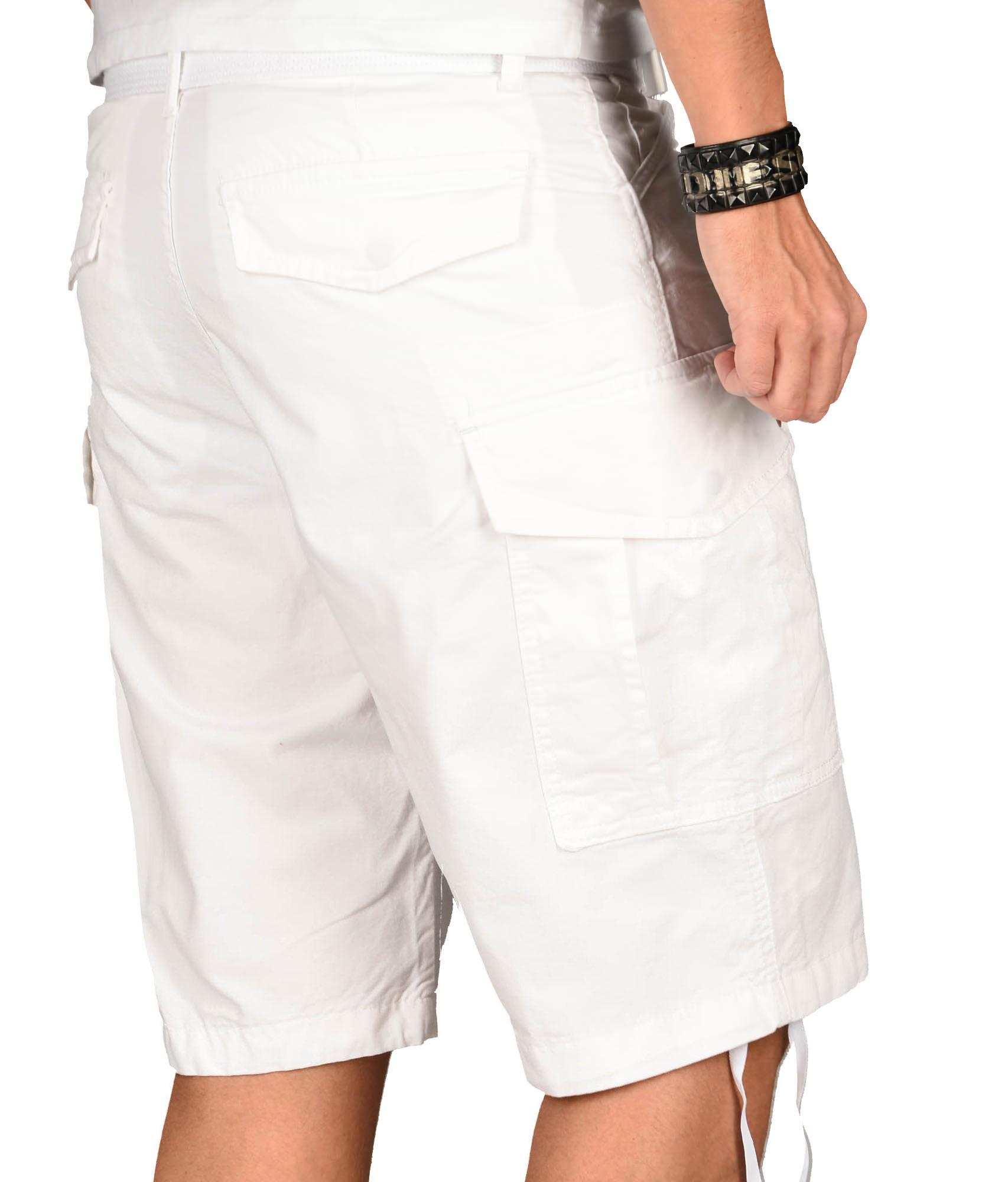 A-Salvarini-Herren-Comfort-Cargo-Shorts-Cargoshorts-kurze-Hose-Guertel-AS133-NEU Indexbild 32