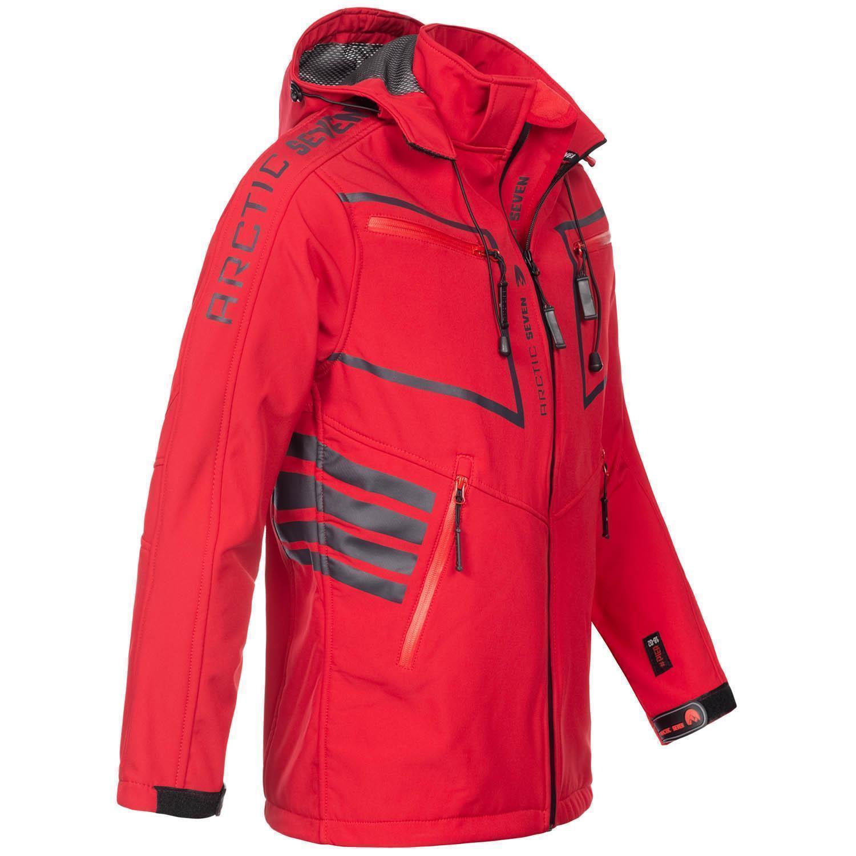 Arctic-Seven-Herren-Designer-Softshell-Funktions-Outdoor-Regen-Jacke-Sport-AS088 Indexbild 34