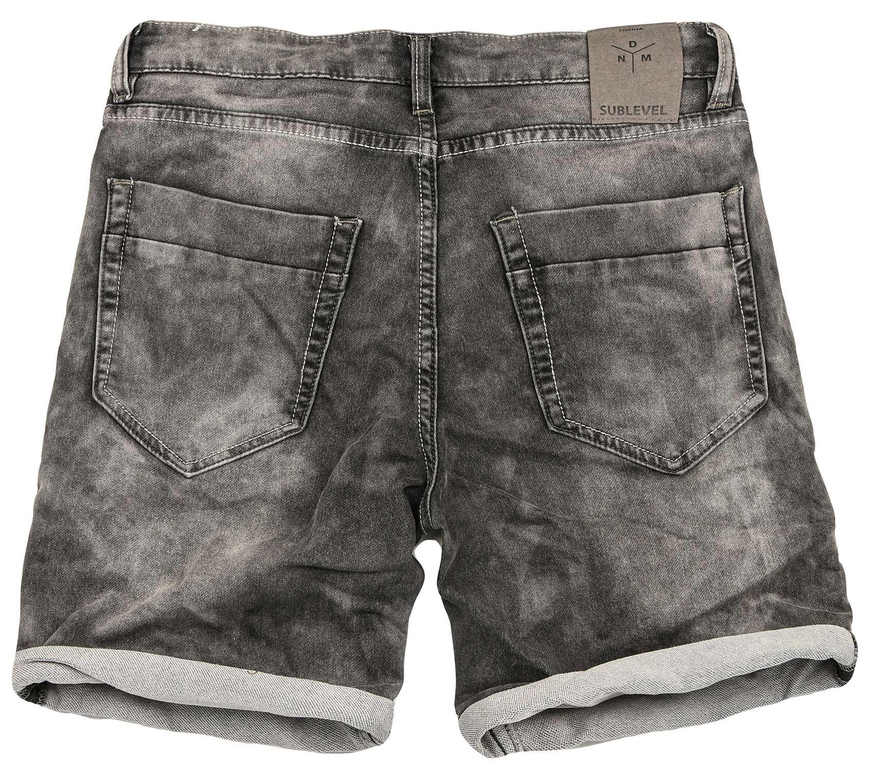 Sublevel-Herren-Sweat-Jeans-Shorts-kurze-Hose-Bermuda-Sommer-Sweathose-Slim-NEU Indexbild 34